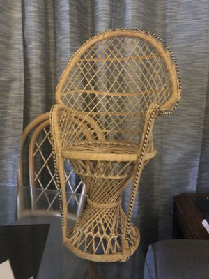 Wicker chair for doll or stuffed animal for Sale in Columbia, MD