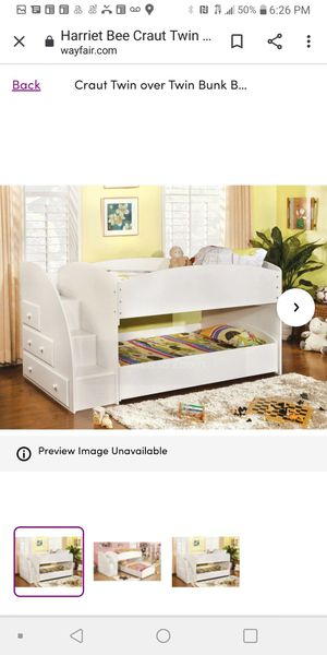 Roll away bunk beds with storage for Sale in North Tonawanda, NY