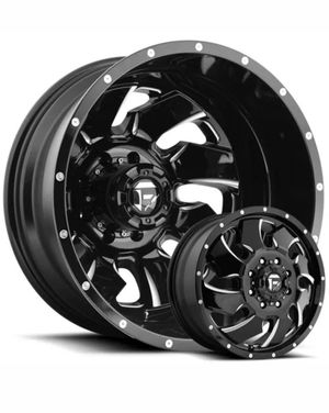 "20"" Fuel Clevers 20x8.25 Dually Wheels Ford Chevy Dodge Direct Bolt 8 Lug Tires Available for Sale in Bellflower, CA"