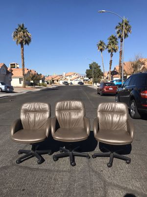 Brownish leather office chairs for Sale in Las Vegas, NV