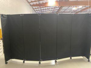 All black 7 panel room divider for Sale in Coffeyville, KS