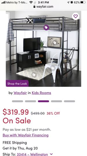 Full size loft bed for Sale in FL, US