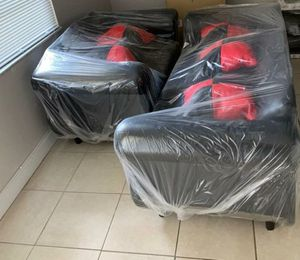 sofa set for living room with pillows included for Sale in Miami Gardens, FL