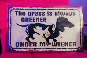 Metal Funny Dachshund Sign, Werner Dog, Home Decor / Wall Hanging for Sale for sale  Austin, TX