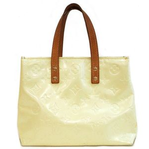 Authentic Louis Vuitton Reade PM Vernis M91145 Ivory Patent Leather Tote Bag 11335 for Sale in Plano, TX