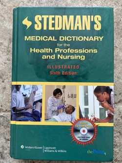 Stedman's Medical Dictionary for the Health Professions and Nursing, Illustrated, 6th Edition for Sale in Santa Ana,  CA
