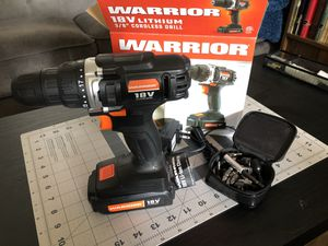 Warrior 18V Compact Drill for Sale in San Jose, CA