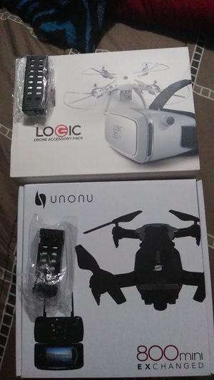 Unonu 800 mini exchange and logic drone accessory pack and 2 battery for 250 brand new for Sale in Miami, FL