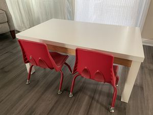 Kids play/crafting desk with 2 chairs for Sale in Santa Ana, CA