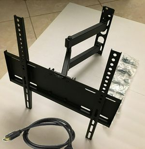 New in box 22 to 55 inches swivel full motion tv television wall mount bracket single arm for Sale in Downey, CA