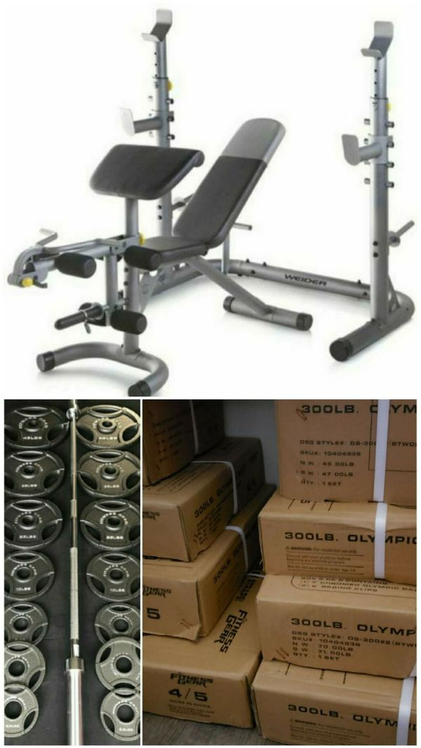 Weider XRS 20 adjustable Olympic workout bench with independent squat rack and preacher curl