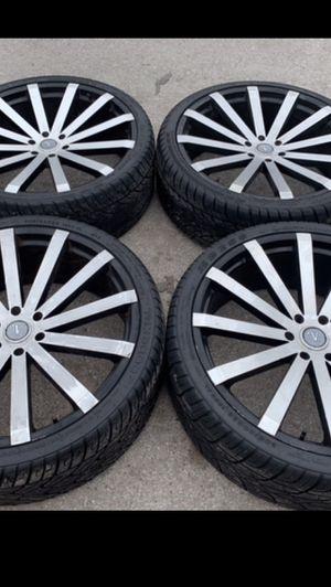 "26"" Velocity black Rims And Tires 6 Lug 26 Wheels 26s Rines y llantas Chevrolet Silverado Tahoe Avalanche GMC Sierra Yukon suburban Denali Cadillac E for Sale in Dallas, TX"