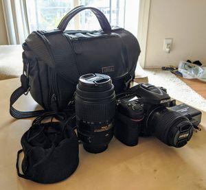 Nikon D7100 + Lenses (18-55mm & 70-300mm) for Sale in Sunnyvale, CA