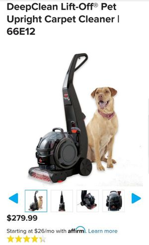 Bissell Lift Off Deep Clean Carpet Cleaner Vacuum, used once! for Sale in Port Orchard, WA