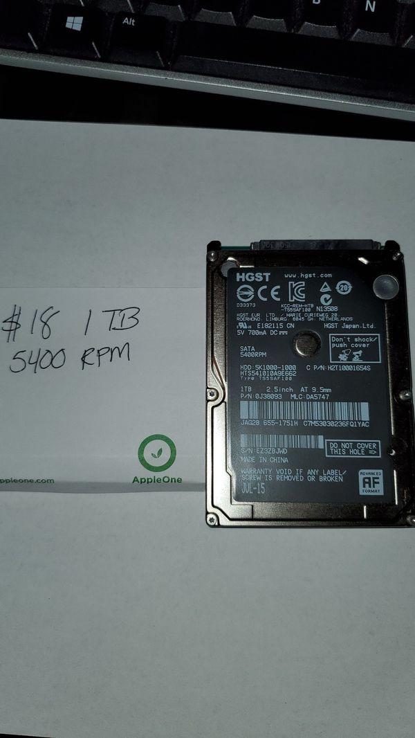 HGST 1TB 2.5 inch HDD