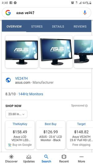 Computer monitor/tv for Sale in Phoenix, AZ