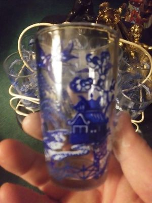 Blue Willow juice glasses set of four for Sale in Obetz, OH