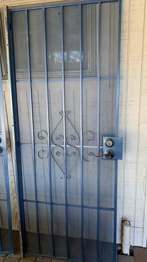 Blue iron screen doors for Sale in Tempe, AZ