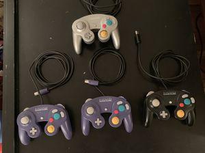 4 Original GameCube Controllers Smash for Sale in Seattle, WA