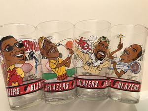 92 93 Dairy Queen Portland Trail Blazers Glass Collectible Cups: Drexler, Williams, Kersey, Porter for Sale in Hillsboro, OR