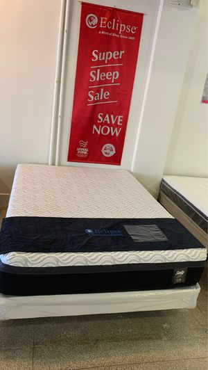 New Queen Sealy Hybrid Memory Foam, FREE Box Spring! for Sale in Philadelphia, PA