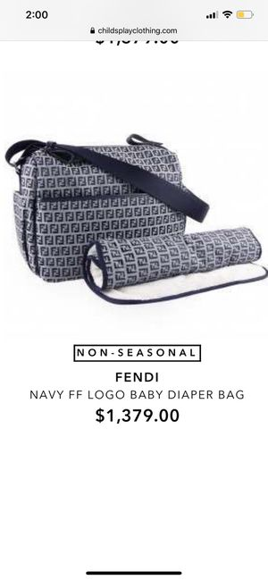 Fendi baby bag diaper bag for Sale in The Bronx, NY
