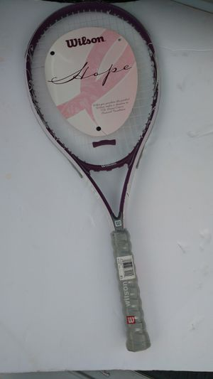 Wilson brand purple and white hope 113 series tennis racket never used for Sale in Columbus, OH