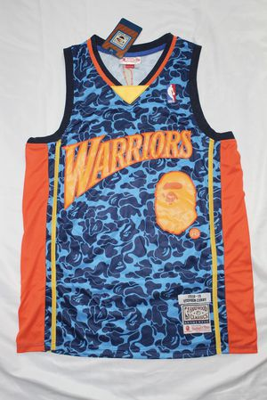 Bape x Mitchell & Ness Warriors ABC Basketball Jersey Swingman for Sale in Philadelphia, PA