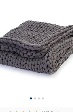 New Bearaby Cotton Napper Weighted Blanket Asteroid Grey 15 Lbs for Sale in Goodyear,  AZ