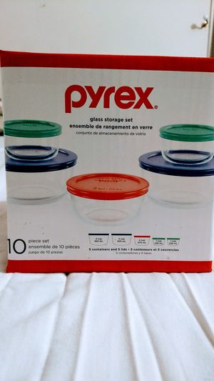 Pyrex glass container 10 piece set for Sale in McDonough, GA