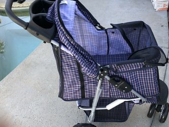 New Plaid blue Dog Stroller - Pet Strollers for Small Medium Dogs & Cats - 3 Wheeler Elite Jogger - Carriages Best for Cat & Large Puppy for Sale in Long Beach,  CA