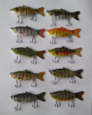 Lifelike swimbait lures 10 pack lot for Sale in Gurnee, IL