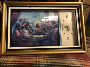 Vintage Jesus Hologram Picture with Clock 20.00 for Sale in Conyers, GA