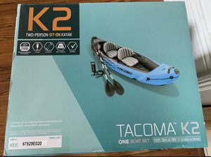 Intex TACOMA K2 Kayak for 2 people includes hand pump for Sale in Dallas, TX