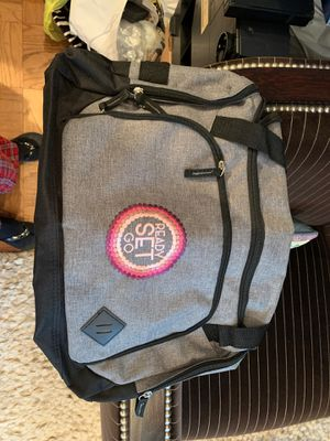 Travel Duffle Bag. Brand New. Never Used. Has logo of Ready Set Go on it. Has several compartments and is lightweight for Sale in Demarest, NJ