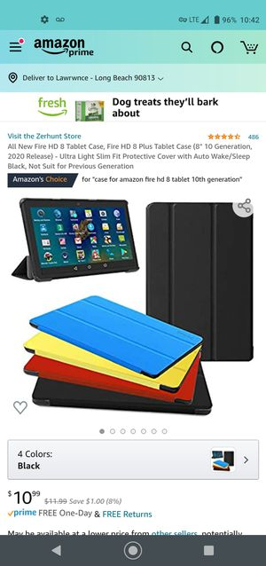"""""""case for amazon fire hd 8 tablet 10th generation"""" $7 for Sale in Long Beach, CA"""
