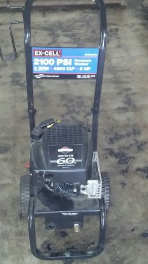 Ex-cell 2100 psi 6 horse power pressure washer for Sale in La Marque, TX