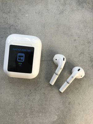 Brand new earbuds earphones earpods headphones with portable charging case hands free calls with LED screen that displays battery levels in real time for Sale in Davie, FL