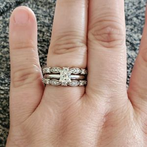3 Ring Wedding set White gold and Diamond MAKE OFFER NEED GONE for Sale in Brighton, CO