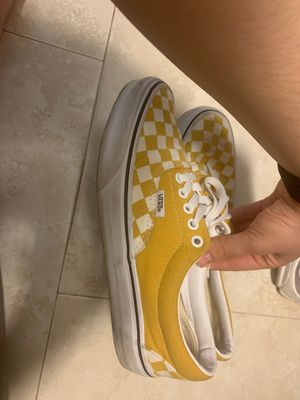 Mustard Yellow Checkered Vans for Sale in Winter Haven, FL