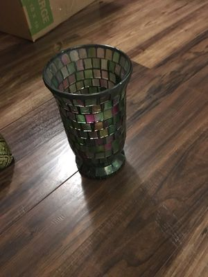 Glass candle holder for Sale in San Antonio, TX
