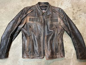 Harley Davidson distressed leather jacket for Sale in Federal Way, WA