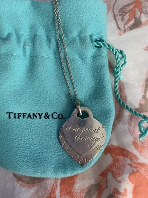 Tiffany & Co. double heart necklace for Sale in San Leandro, CA