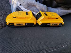 dewalt 20v battery 2ah new for Sale in Sacramento, CA