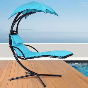 Hanging Chaise Lounger Chair Arc Stand Porch Swing Hammock Chair W/ Canopy for Sale in Los Angeles, CA