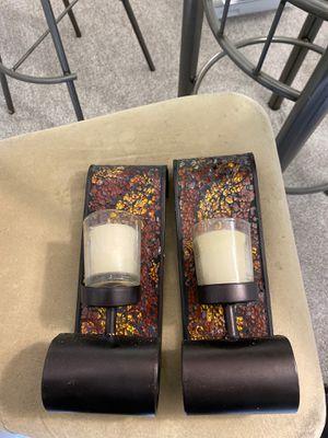 Set of 4 plume votive sconces for Sale in Atlanta, GA