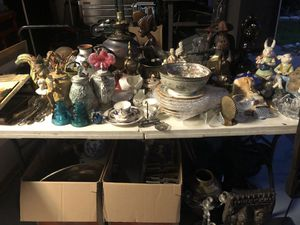 Estate items Antique statues costume jewlery sculptures glass metal bronzes sports collectibles art paintings steins for Sale in Coral Springs, FL