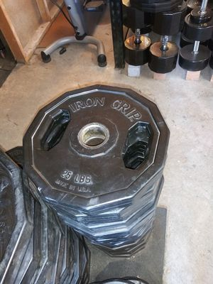25s..IRON GRIP WEIGHTS for Sale in Riverside, CA