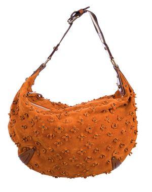 Louis Vuitton Onatah Fleurs Suede Leather Orange Shoulder Bag for Sale in Los Angeles, CA
