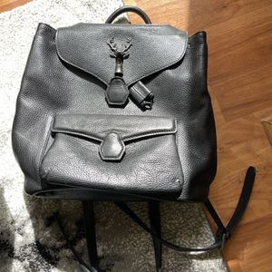 Black Leather Backpack With Deer Buckle for Sale in San Diego, CA